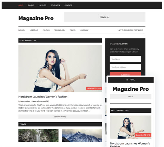 studiopress magazine pro theme review