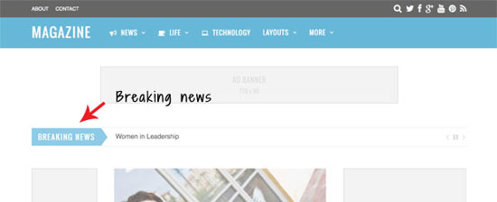 Themify Magazine Review Breaking News Ticker