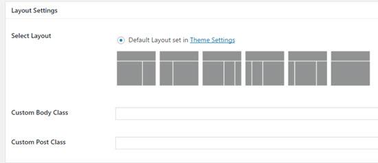agency pro- layout settings