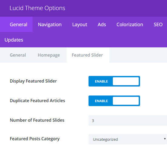 lucid review- lucid theme options