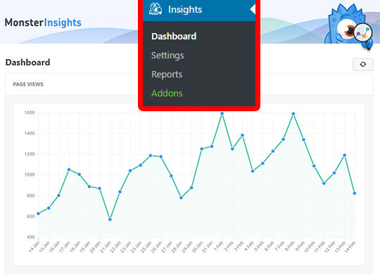 MonsterInsights Review - dashboard