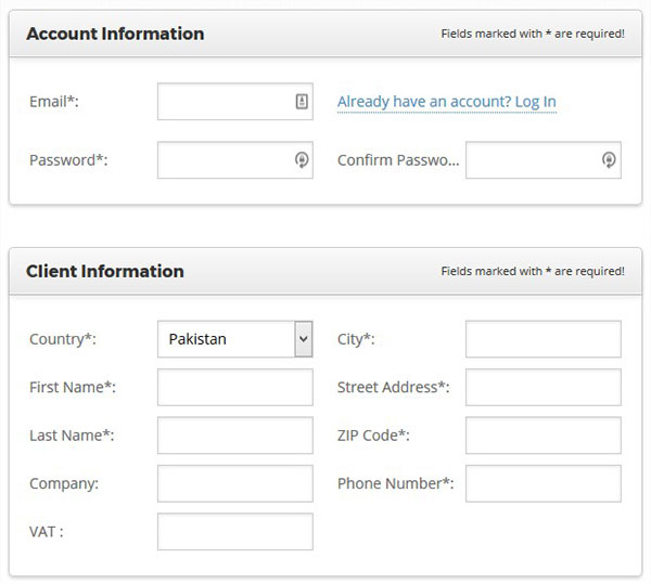 Account and Client Information