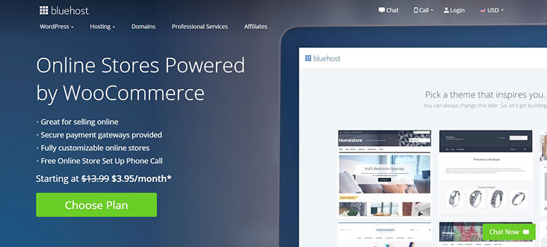 Bluehost coupon code for WooCommerce