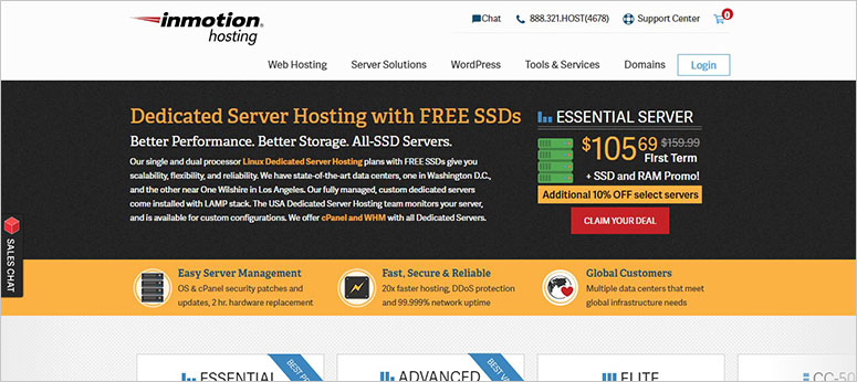 InMotion Dedicated Hosting