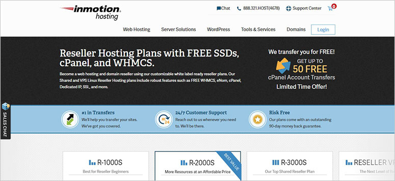 InMotion Reseller Hosting