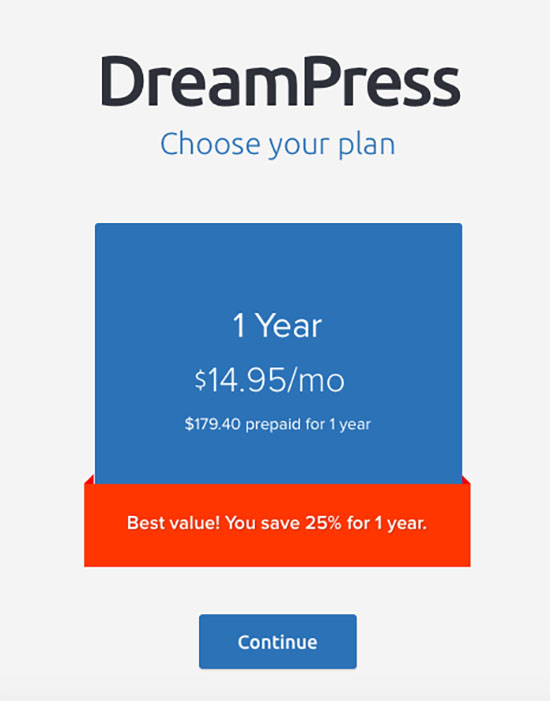 DreamPress Plan