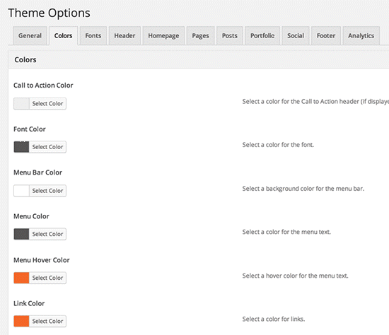 nectar theme options
