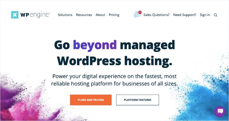 wpengine main homepage