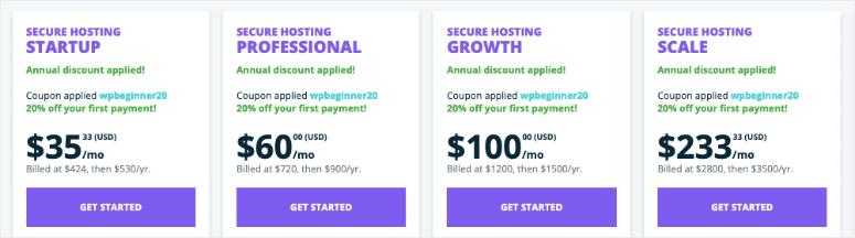 wpengine secure hosting