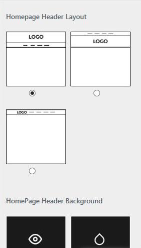 Homepage Header Layout