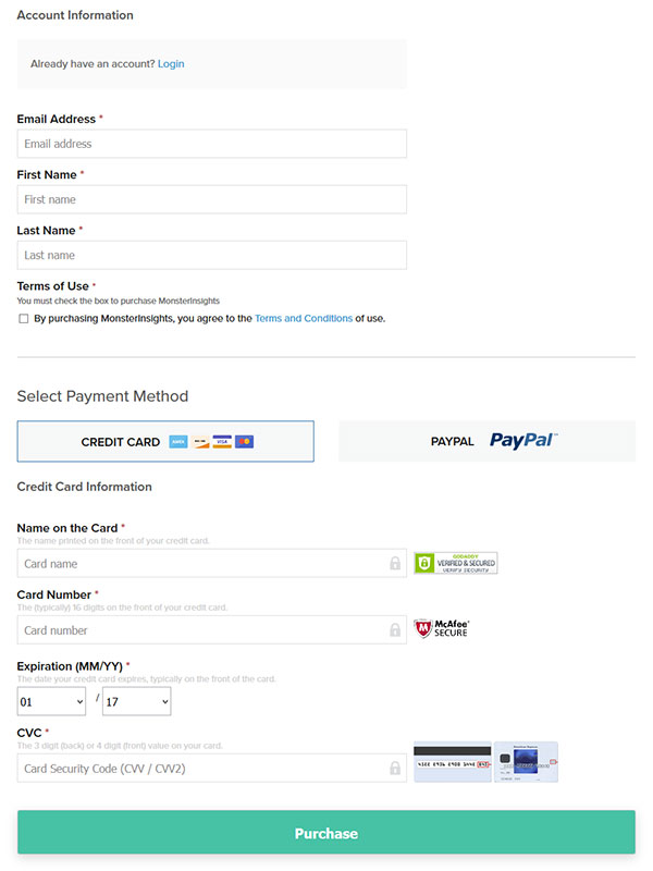 Account Information and Payment