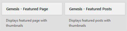 Genesis Widgets