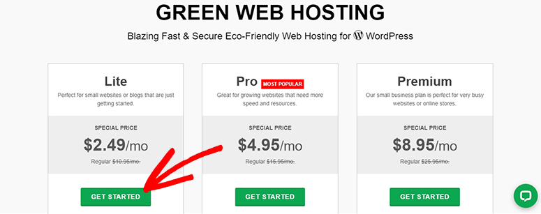 GreenGeeks Get Started