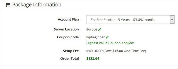 Greengeeks coupon code get 64 off free domain special package information fandeluxe Images