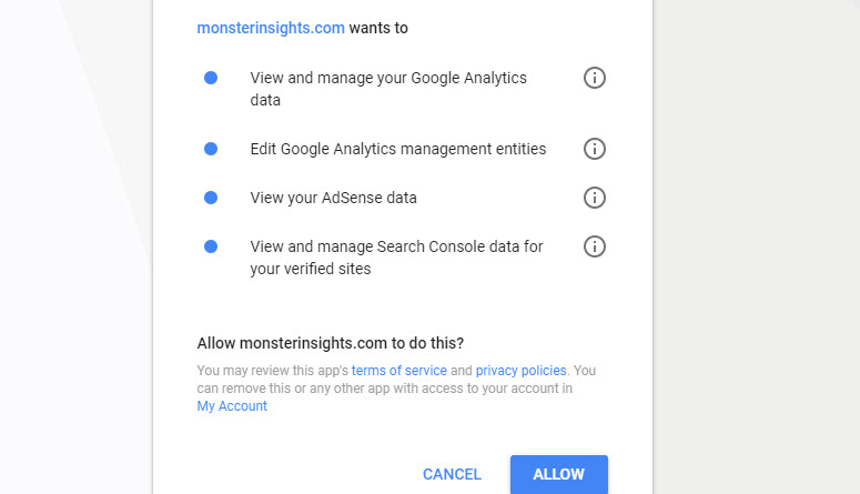 monsterinsights to manage analytics in wordpress