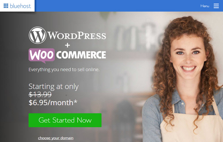 bluehost woocommerce hosting