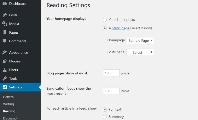 static homepage