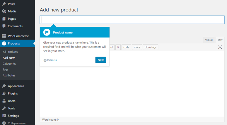 woocommerce add new product