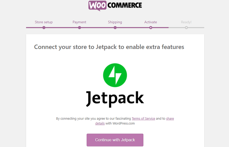 woocommerce with jetpack