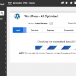 install wordpress A2 Hosting