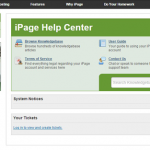 iPage help center