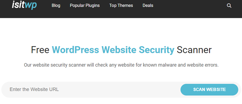 free website security scanner
