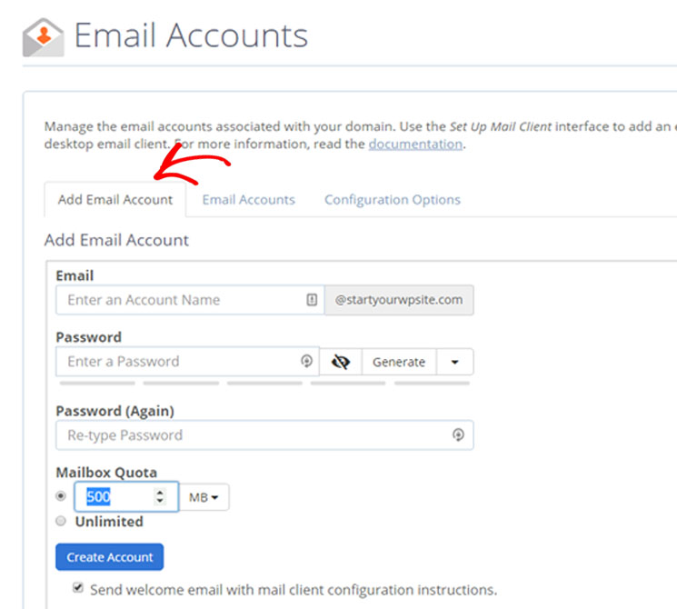 how to make a business email account