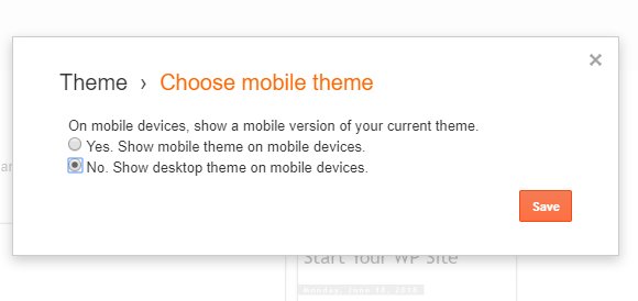 choose mobile theme