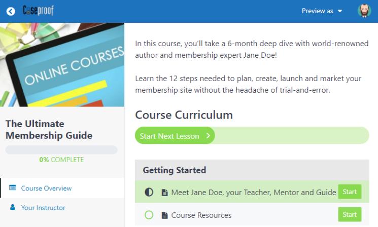 memberpress courses classroom mode