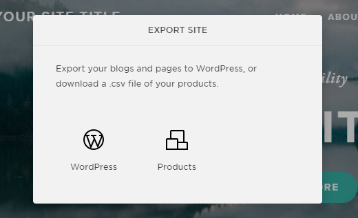 export to wordpress from squarespace
