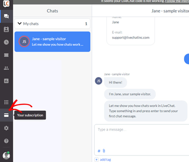 livechat-account-interface