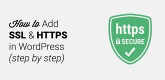 add ssl and https in wordpress