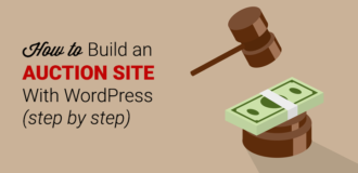 build auction site with wordpress