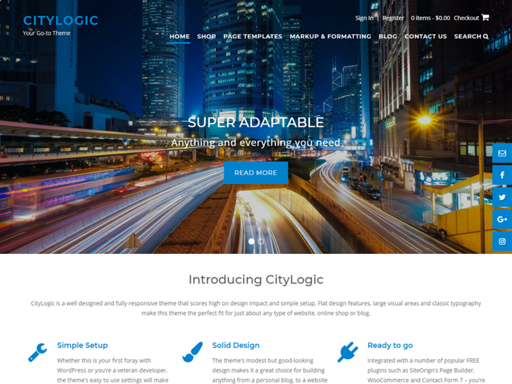 Citylogic Is A Stunning WordPress Theme That Allows You To Create Any Website Ranging From Travel Business Lifestyle And Even An Online
