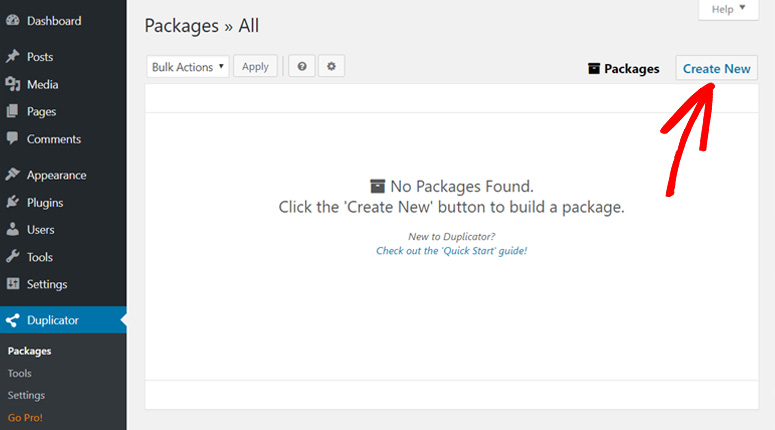 create-new-package-duplicator-plugin