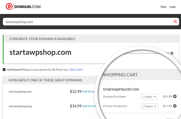 domain dot com-add-to-cart