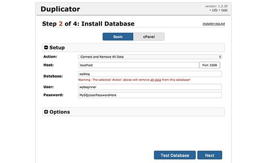 duplicator-installer-step2