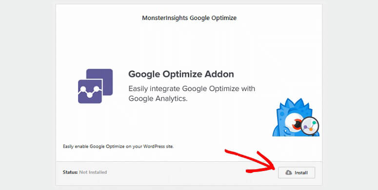 Google Optimize addon