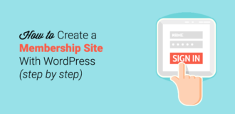 how to create a wordpress membership site