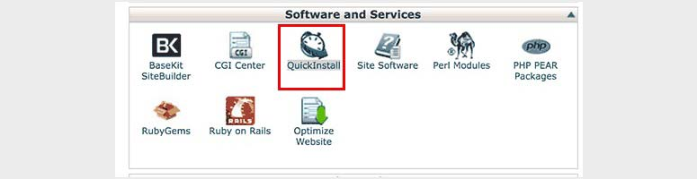 QuickInstall cPanel