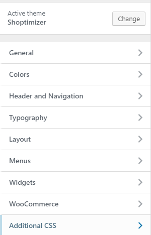 shoptimizer theme settings