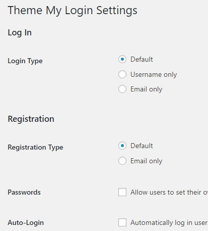 theme my login settings
