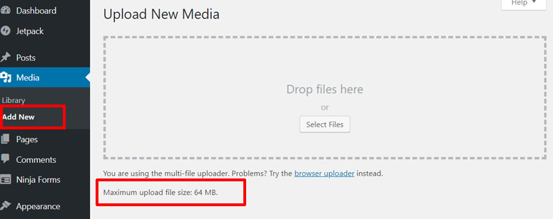wordpress-maximum-file-upload-size