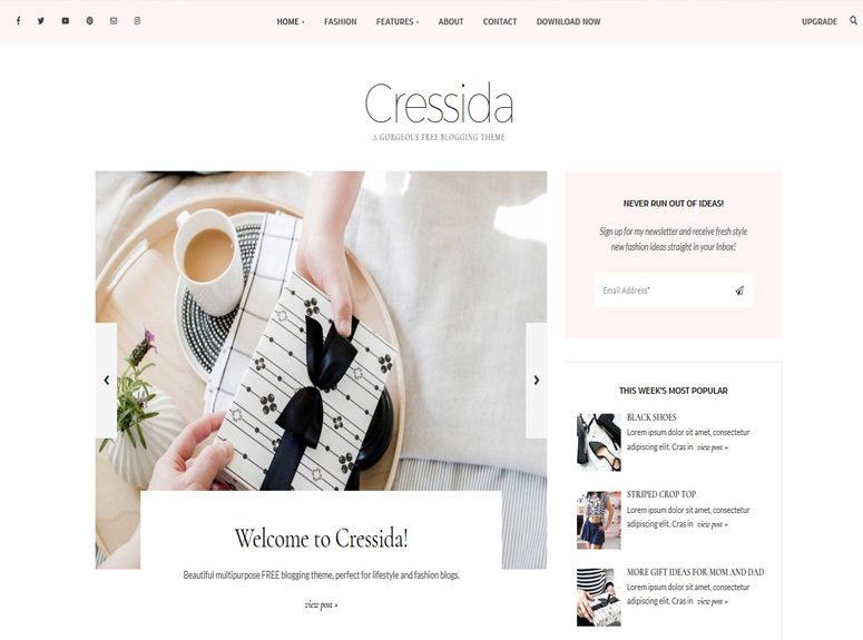 cressida-wordpress-theme