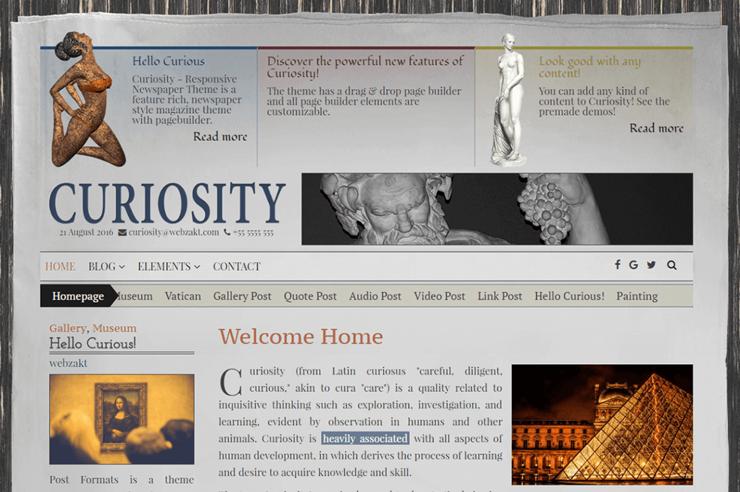 curiosity theme