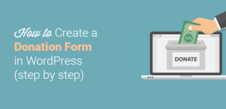 how to create a donation form in WordPress