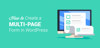 how to create a multipage form in wordpress