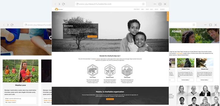 maisha wordpress responsive theme