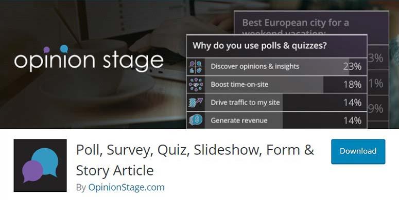 OpinionStage Poll, Survey, Quiz