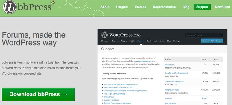 From the creators of WordPress, bbPress is a free and open source WordPress forum plugin. It's lightweight and won't slow down your website with unnecessary ...
